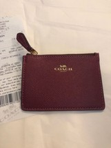 New Coach Mini Skinny ID Case  F12186 Key Pouch Coin Case + GIFT RECEIPT... - $30.64