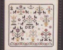 Nostalgia II antique motif sampler cross stitch chart Rosewood Manor