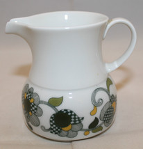 Mid Century Modern Vintage Thomas Germany White Creamer Green Yellow Flo... - $44.88