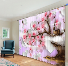 3D Flower Love015Blockout Photo Curtain Printing Curtain Drapes Fabric W... - $145.49+