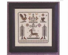 Nostalgia III antique motif sampler cross stitch chart Rosewood Manor - $8.00