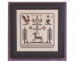 Nostalgia III antique motif sampler cross stitch chart Rosewood Manor - $8.00