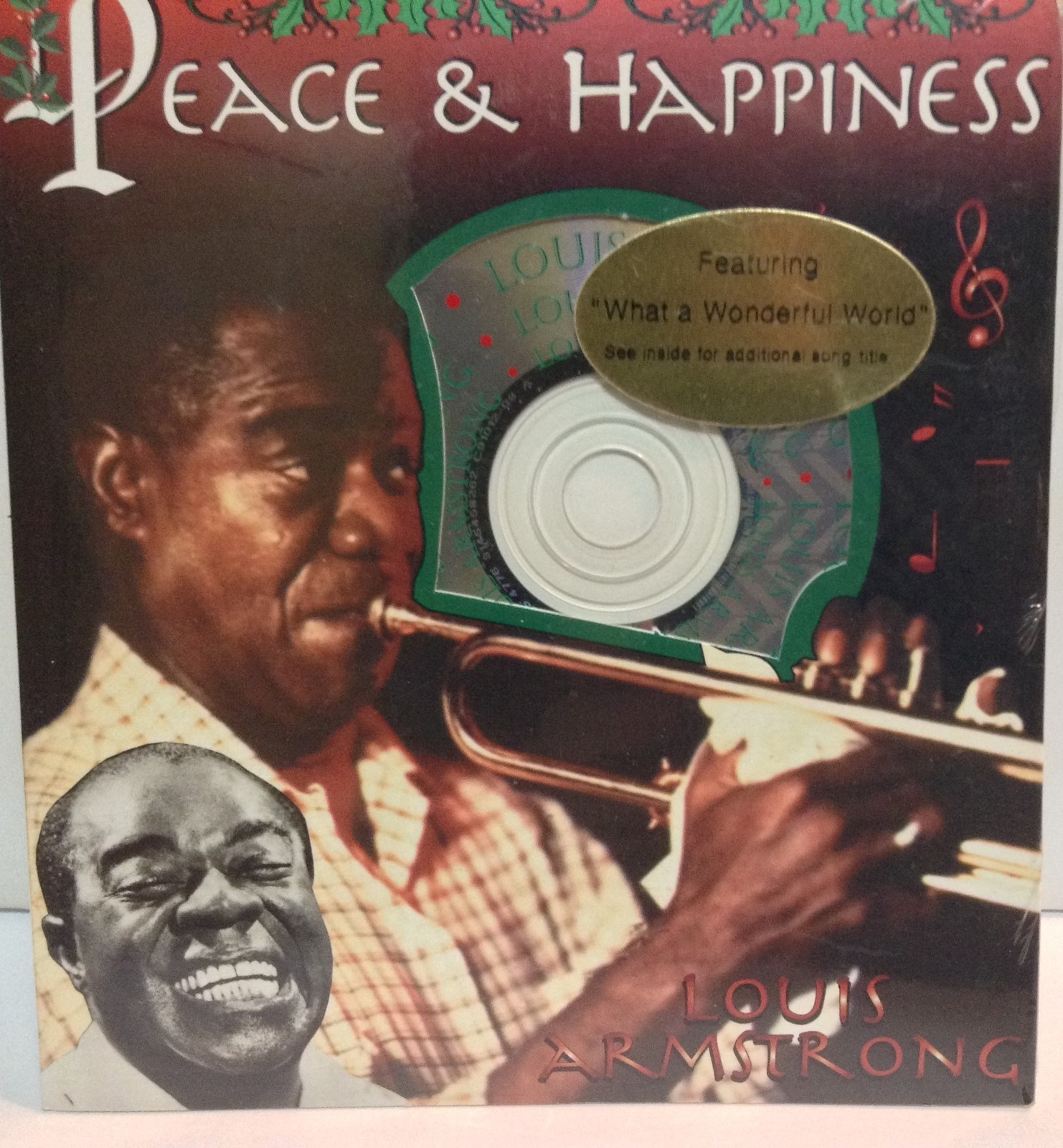 Louis Armstrong WHAT A WONDERFUL WORLD CD Gift Holiday Card New Sealed