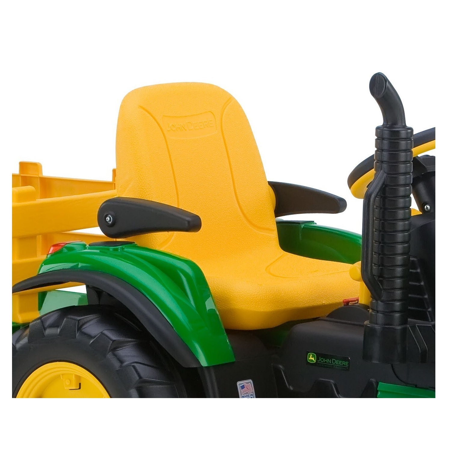 Power Wheels Ride On Tractor : Battery powered tractor kids ride on trailer farm wheels