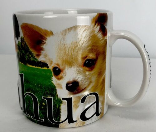 Primary image for Chihuahua Dog Coffee Cup Mug Raised Embossed 3D Large 18 oz Puppy Rare