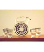 Antique Bar Decanter Set Vintage Paden City 215... - $97.02