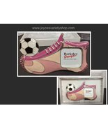 Girl's Pink Soccer Shoe Photo Frame NWT Berkeley Designs - $10.99