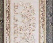 Welcome Home button sampler cross stitch chart Rosewood Manor