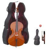 Lucky Gifts 4/4 Size Student Cello with Hard Case,Soft Carrying Bag,Bow~Natural