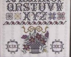 Surrey House Sampler cross stitch chart Rosewood Manor