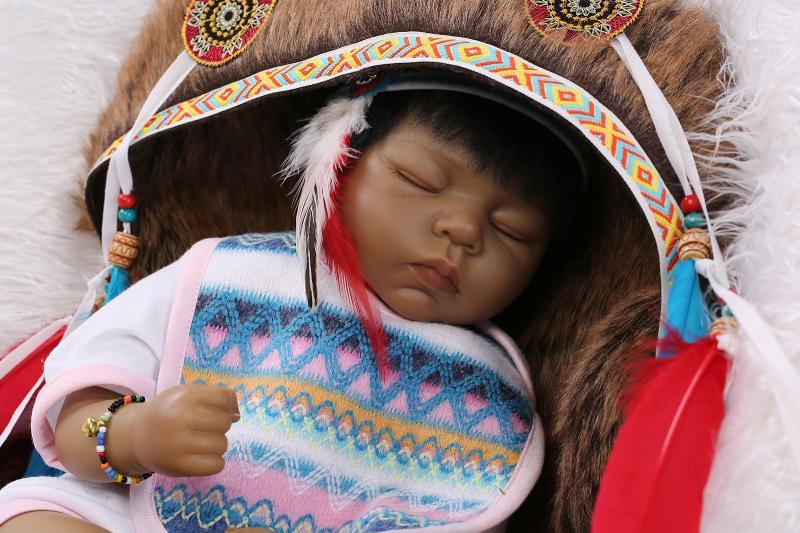 21 Quot Rare Native American Indian Reborn Baby Silicone Doll