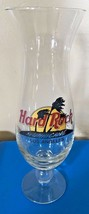 Hard Rock Cafe Los Angeles Hurricane Glass BlackCircle HRC Logo Palm Trees  - $8.99