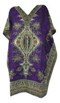 Floral Short Beautiful Kaftan, Bohemian Beach Top, Hippie Caftan Free Size Dress - $8.59