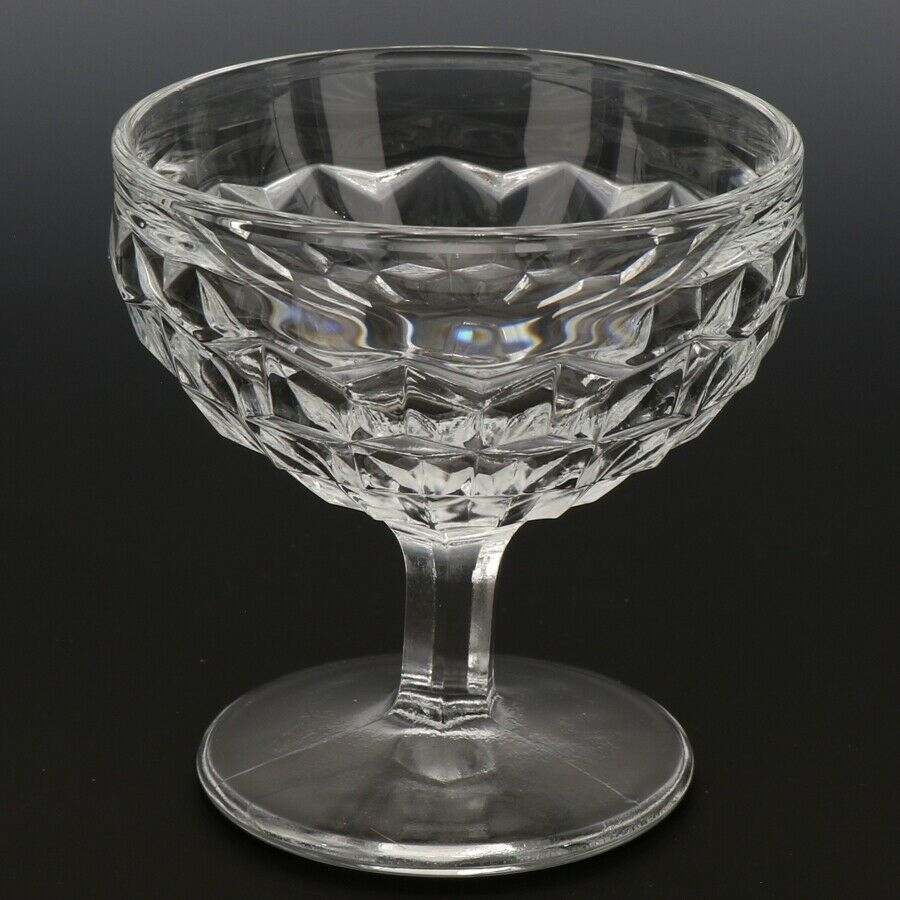 Fostoria American Crystal Goblet 5 OZ Low Sherbet Footed