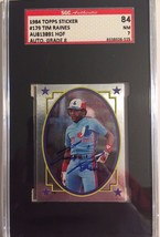 1984 Topps Sticker #179 Autographed Tim Raines SGC 84 NM 7w 8 - $29.02