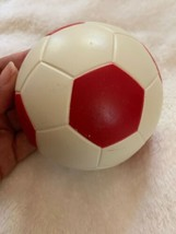 Home Interiors Homco Sports Wall Hanging Plaque Soccer Ball Red White Vt... - $18.70