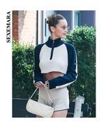 SEXEMARA Knit Two Piece Set Sexy Casual Womens Short Set Sweater Crop To... - $54.37
