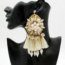 Drop Earrings Statement Bohemian Big Fringed Tassel for Women Fashion Jewelry - $23.36