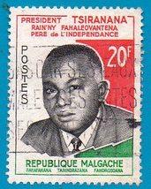 Madagascar Used Postage Stamp (1960) 20f President Tsiranana Scott #320 - $1.99