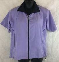 Proquip Golf Short Sleeve Jacket Size L Lavender Windshield Full Zip  - $24.70