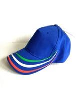 ATLANTIS Alien Hat Cap Italy Italian Blue Red Green Striped 5 Panel - $14.84