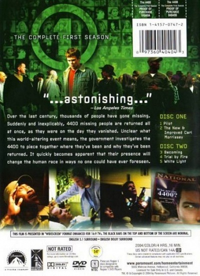 The 4400 - Complete First Season (DVD, 2004, 2-Disc Set, Widescreen) Brand New