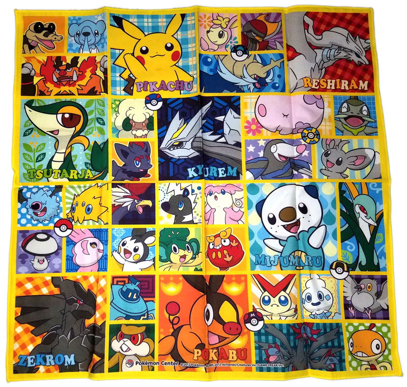 "Pokemon Generation 5 Pokemon Center 16.5"" x 16.5"" Towel * Nintendo * Anime"