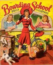VINTAGE UNCUT 1942 BOARDING SCHOOL PAPER DOLLS~#1 REPRODUCTION~FABULOUS ... - $18.99