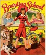VINTAGE UNCUT 1942 BOARDING SCHOOL PAPER DOLLS~#1 REPRODUCTION~FABULOUS ... - $17.50