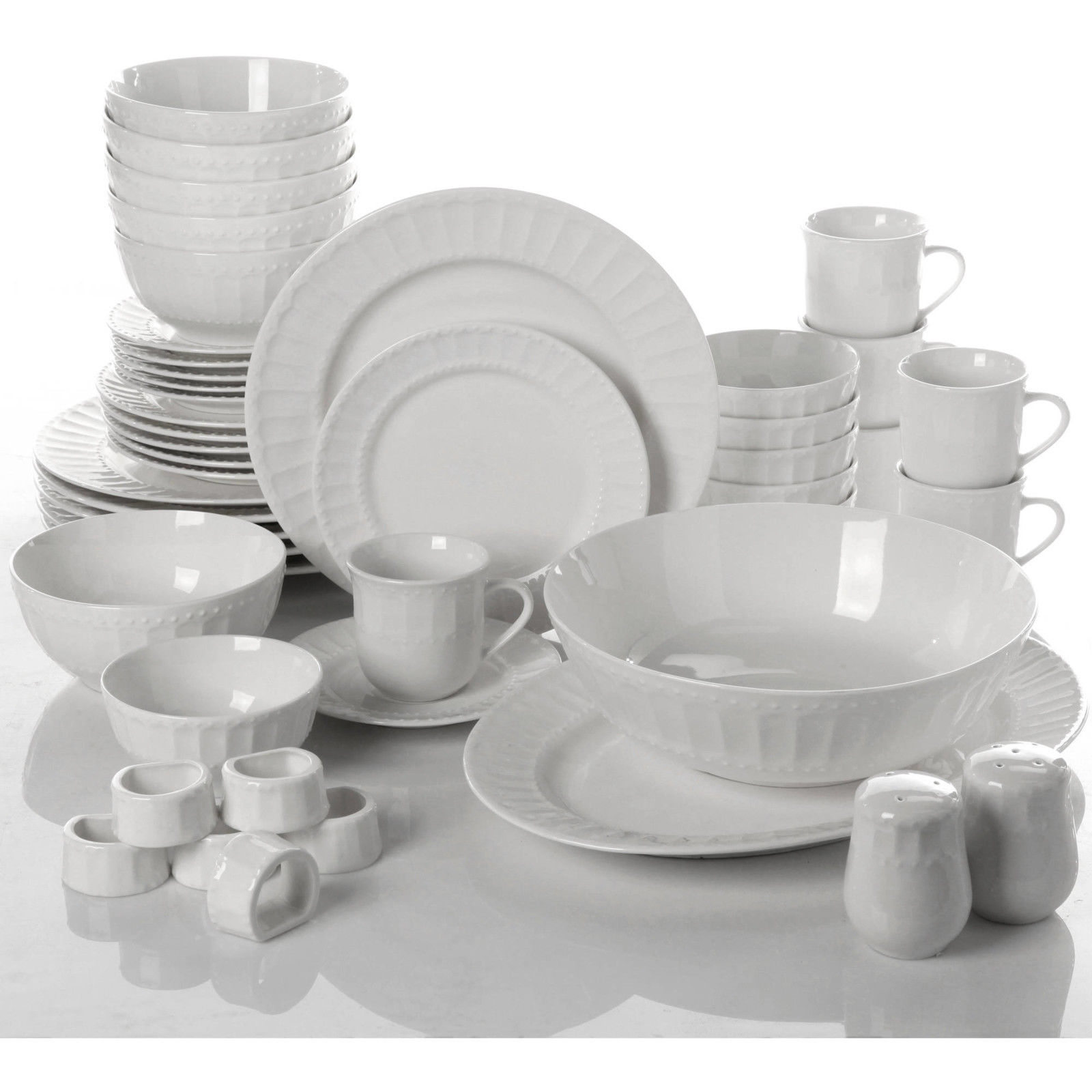 46 Piece Dinnerware Set Plates Dishes Bowls and 50 similar items