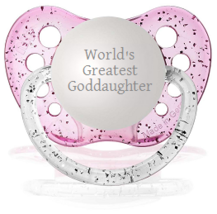 World's Greatest Goddaughter Pacifier - Glitter Pink - Girls - 0-18 mont... - $9.99
