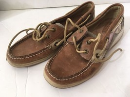 Women's SPERRY Top Sider Billfish Leather Boat Shoe Size 6M GUC - $21.77