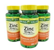 Spring Valley Zinc Vitamin 50 mg 200 Caplets  Immune Support Exp 2023 ( 3 packs) - $21.77