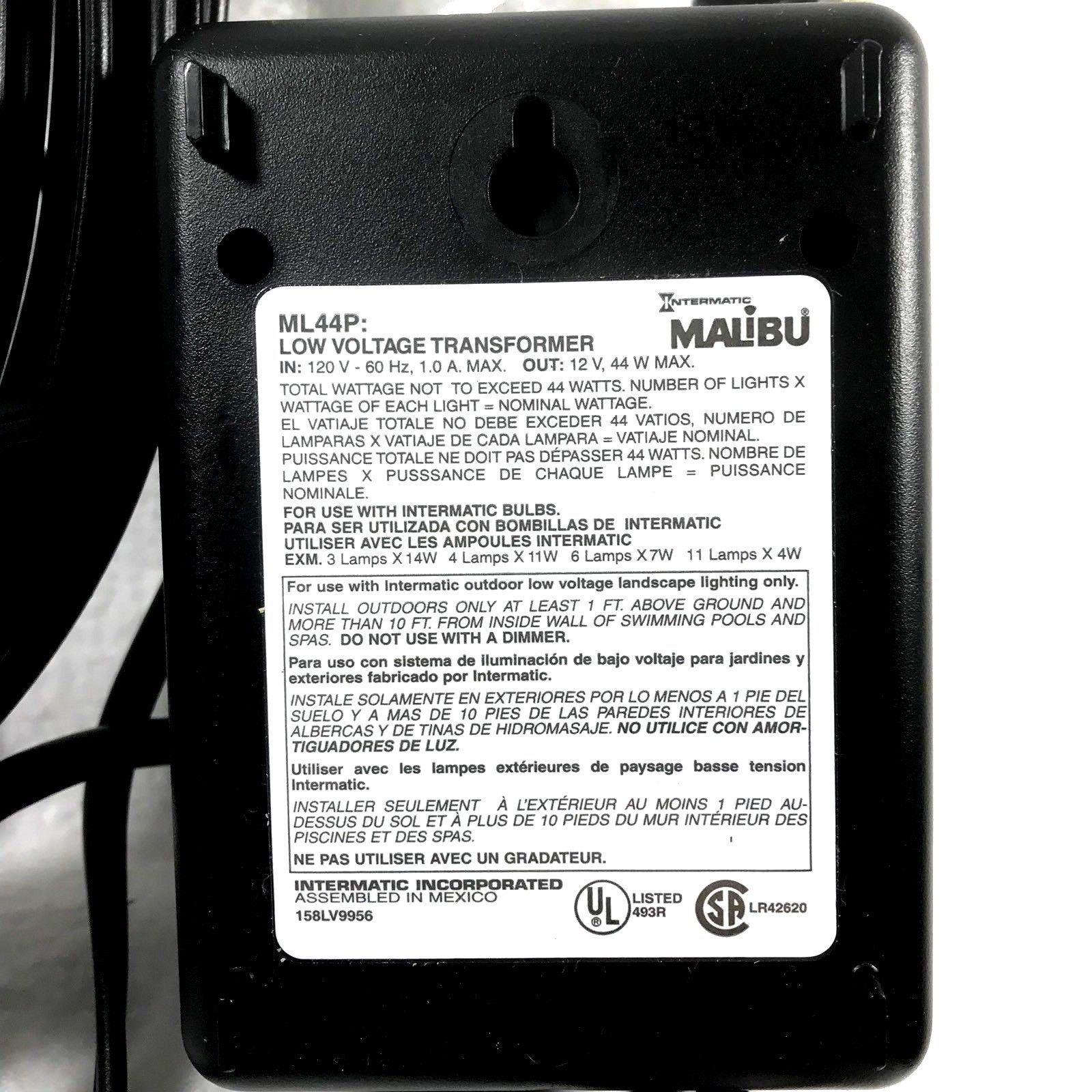 Malibu Low Voltage Transformer Wiring Solutions Lighting Diagram 44 Watt Ml44p And 13 Similar Items Outdoor Image