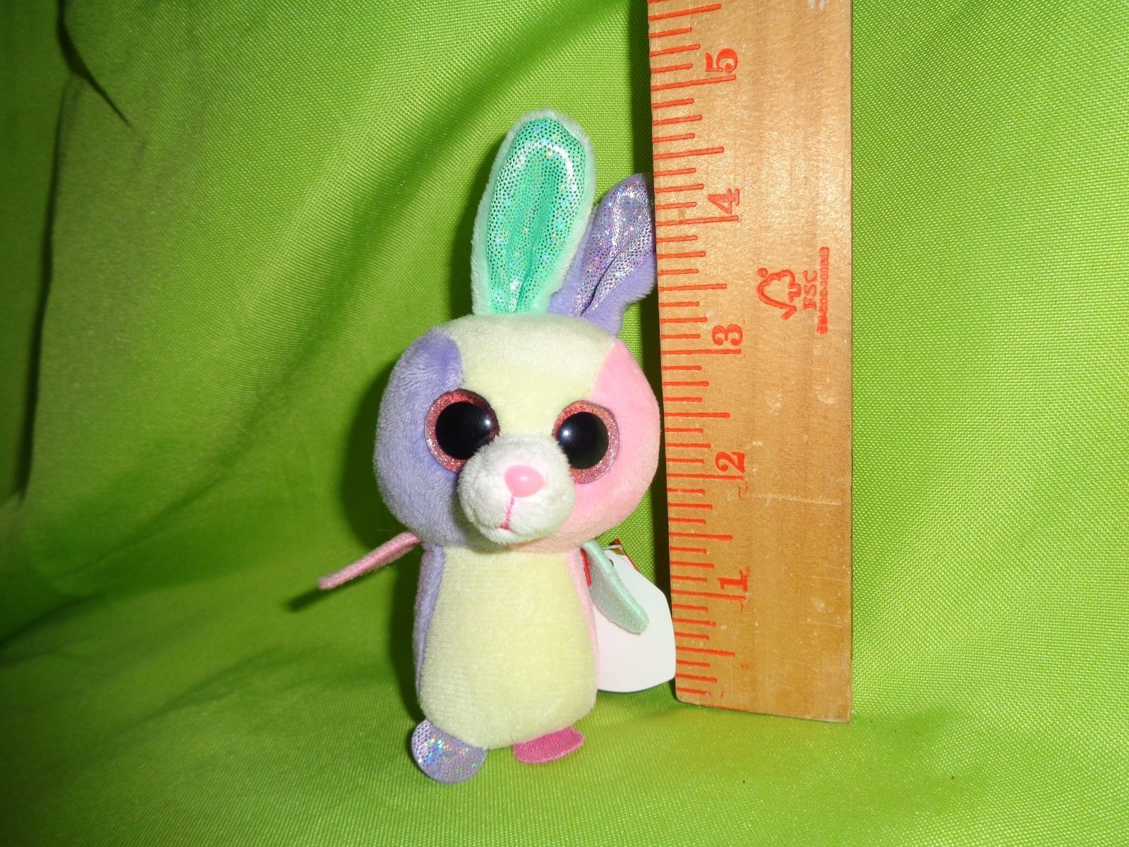 "NEW W//TAGS** VERY BRIGHT /& COLORFUL TY BLOOM EASTER BUNNY 6/"" BEANIE BOOS"