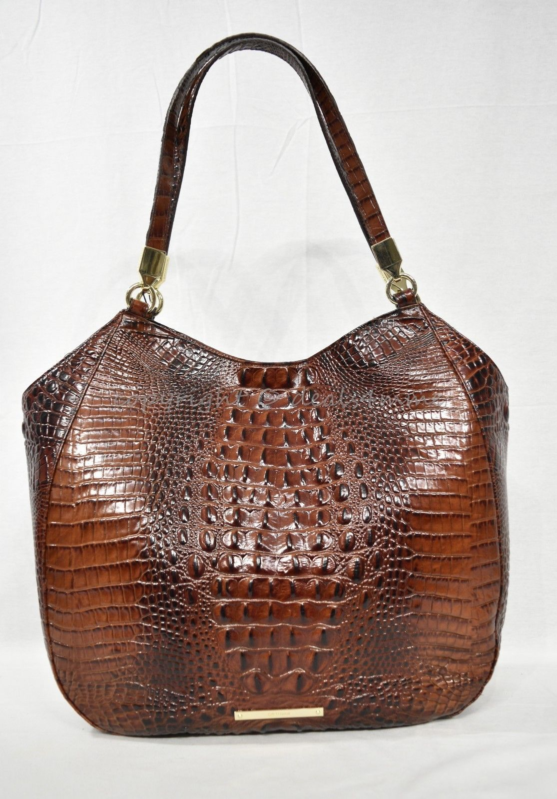 NWT Brahmin Thelma Tote / Shoulder Bag/Tote in Pecan Melbourne Embossed Leather image 2