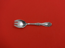 "American Beauty Rose by Holmes & Edwards Plate Silverplate Ice Cream Fork 4 7/8"" - $45.00"