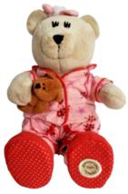 Starbucks Bearista Bear Plush Teddy 2007 69th Stuffed Animal Pink Pajama... - $27.54