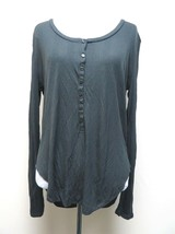 Denim & Supply Ralph Lauren 8994 Womens Henley Ribbed Henley Top Size M ... - $16.82