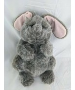 "Dakin Lou Rankin Nibbles Bunny Rabbit Plush 12"" Gray 24550 Stuffed Animal Toy - $19.95"