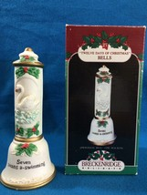 Seven swans a-swimming  12 DAYS OF CHRISTMAS BELLS by BRECKENRIDGE HOLID... - $24.70