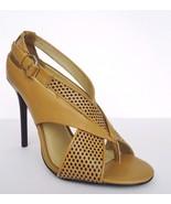 L.A.M.B. Beverlee Dress Pump Shoes High Heel Sandals Sz 9.5 M Camel Blac... - $138.55