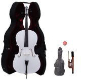 Primary image for Lucky Gifts 4/4 Size Student Cello with Hard Case,Soft Carrying Bag,Bow~White