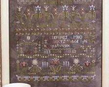 Flowers Awake cross stitch chart Rosewood Manor