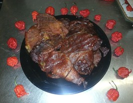 Organic Ghost Pepper Pork Jerky 2oz. of Succulent Inferno Hot/Sweet Jerky - $5.85