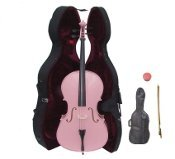 Primary image for Lucky Gifts 1/4 Size Student Cello with Hard Case,Soft Carrying Bag,Bow ~ Pink