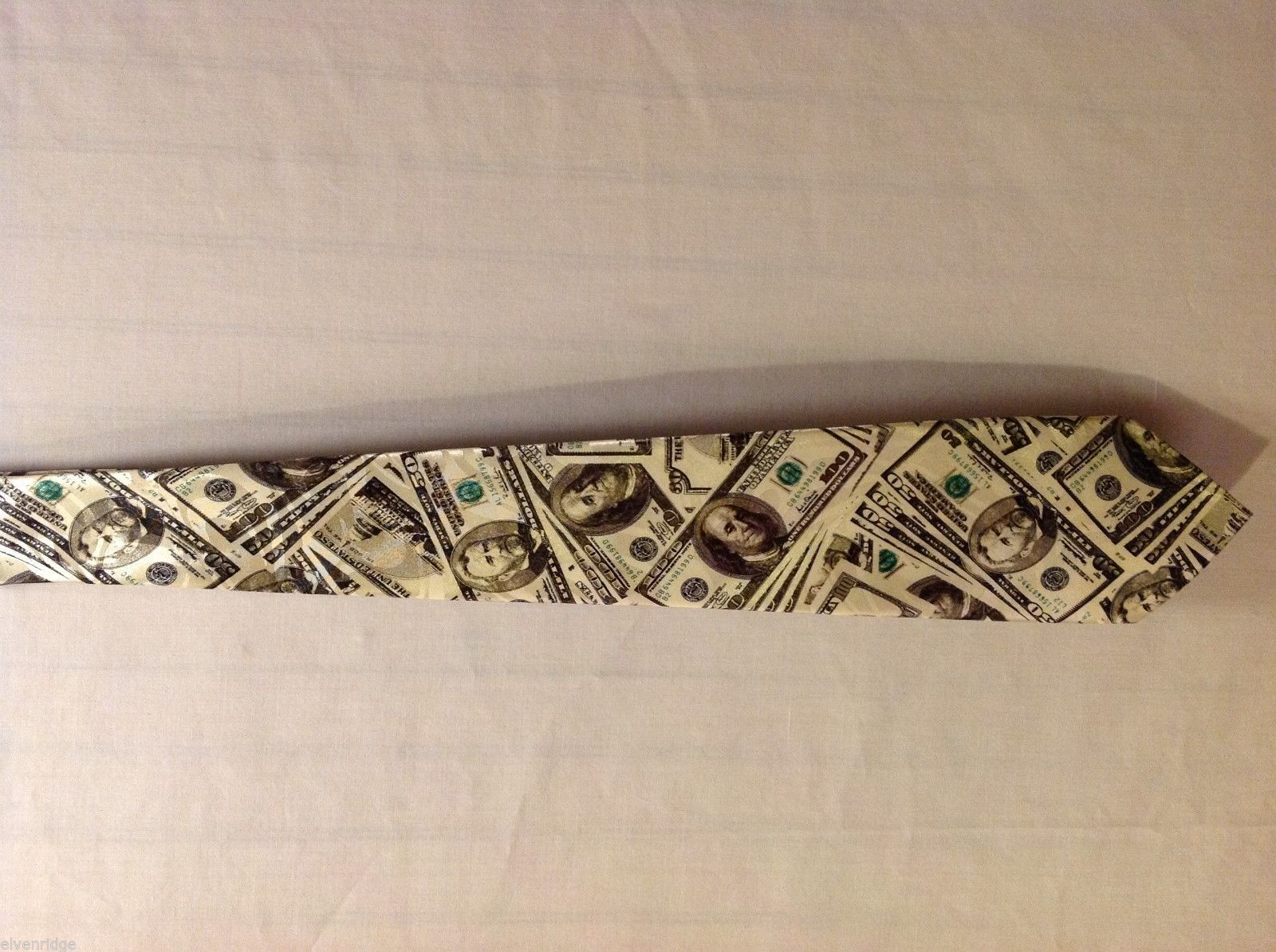"Steven Harris Mens Money Themed Tie, 63"" Long"