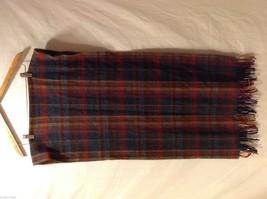 "Unisex Pure Wool Plaid Scarf, 20"" X 76"""