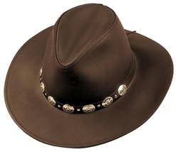 MADE in the USA Henschel Hats DUDE Chocolate Dakota Leather Western Cowb... - $81.95+