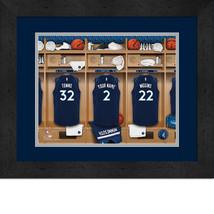 Personalized Minnesota Timberwolves 12 x 16 Locker Room Framed Print - $63.95
